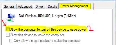 Network Adapter Power Management