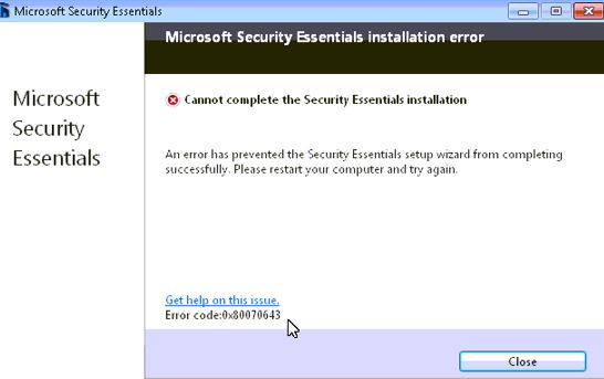 Error 0x80070643 - фото 8