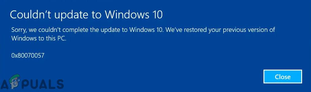 Fix  Windows Update Error 0x80070057