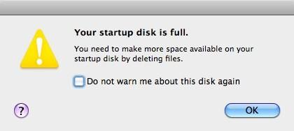 Fix: Your startup disk is full