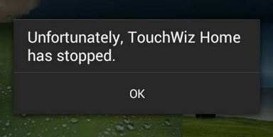 Fix: TouchWiz Home has stopped