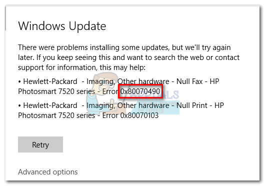 error 0x80244019 occurred while downloading update