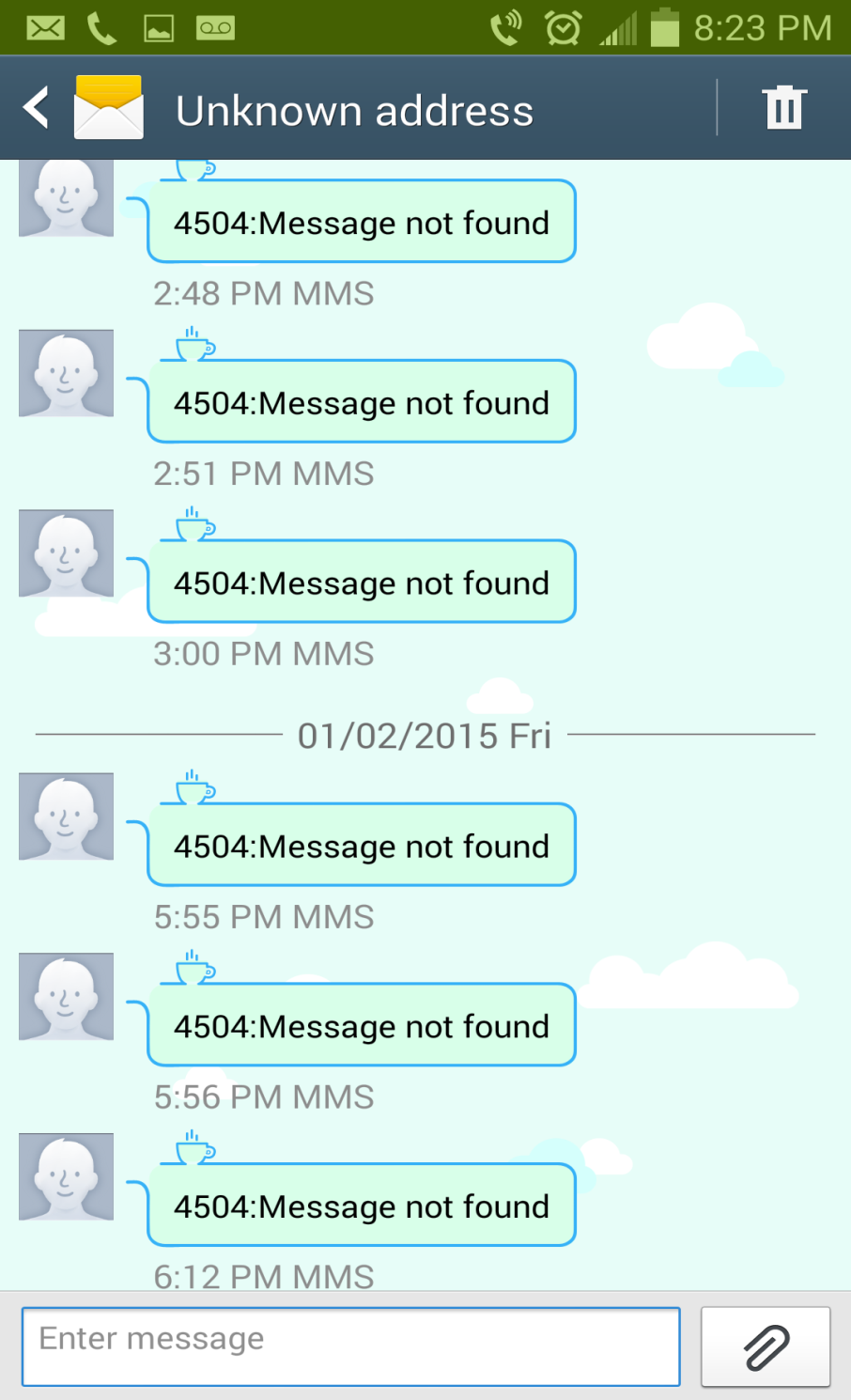 Fix: 4504 Message not found