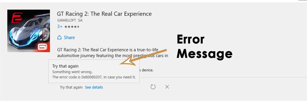 Fix: Error 0x80080207 on Windows Store