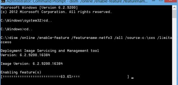 net framework 3.5 windows 10 64 bit 0x800f081f