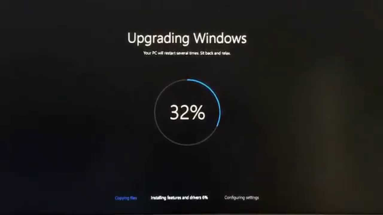 Fix windows 10 update stuck at 32 for Windows 10 update