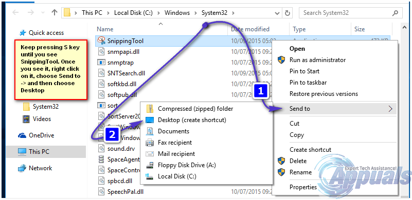 how to use windows snipping tool in a pdf