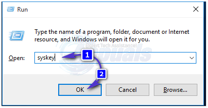 How to remove syskey password in windows 10 using cmd