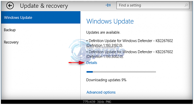 Fix windows defender not updating in windows 10 for Window defender update