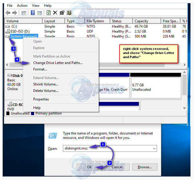 FIX: Couldn't Update the System Reserved Partition Error