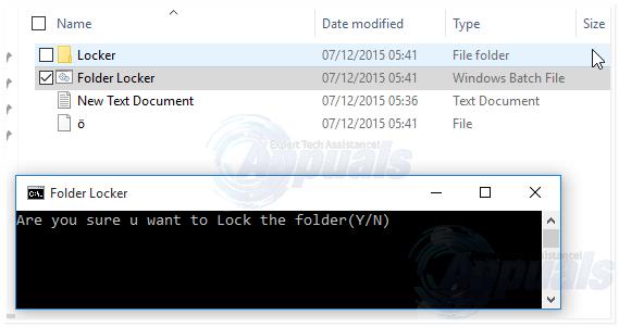 how to make locked folder windows 10