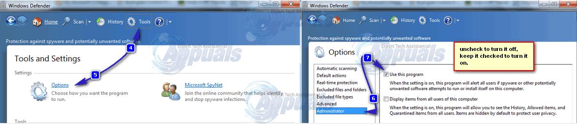 how to turn on my windows defender on windows 8