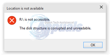 FIX: The Disk Structure is Corrupted and Unreadable - Appuals com