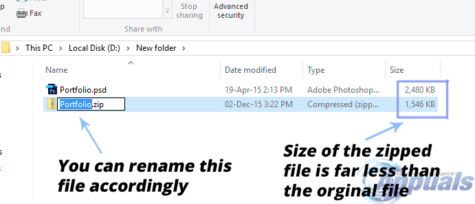 how to zip a pdf file in windows 10