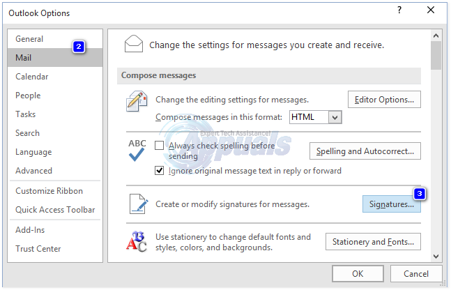how to set email signature in outlook 365
