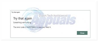 Fix: Error 0x80070003 When Updating Apps - Appuals com