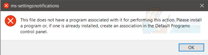 Fix: this file does not have a program associated with it for