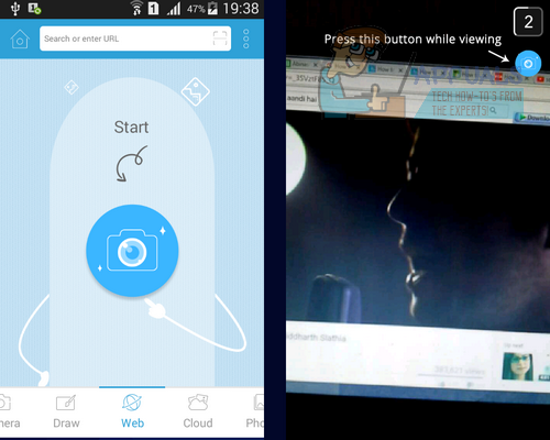 how to turn camera on snapchat android emulator