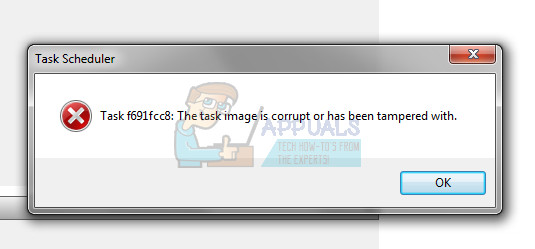 FIX: The task image is corrupt or has been tampered with