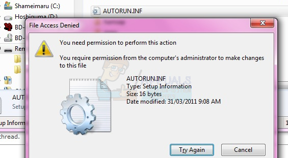 Fix: Access Denied or Permission Issues with Autorun inf - Appuals com