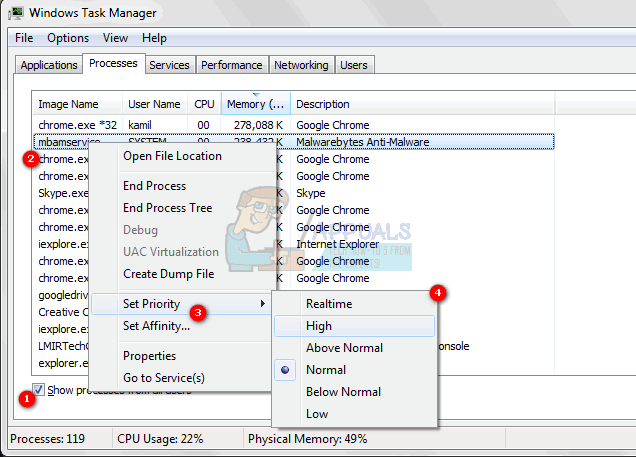 Fix: Unable to Change Priority in Task Manager - Appuals com