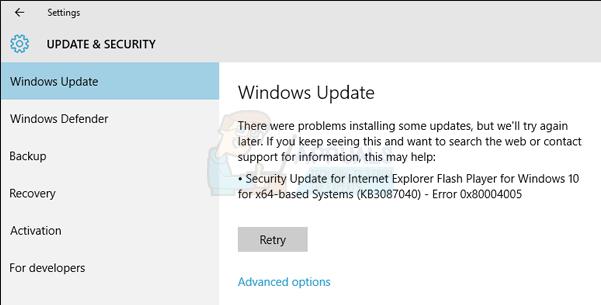 How to Fix Windows Update Error Code 0x80004005 - Appuals com