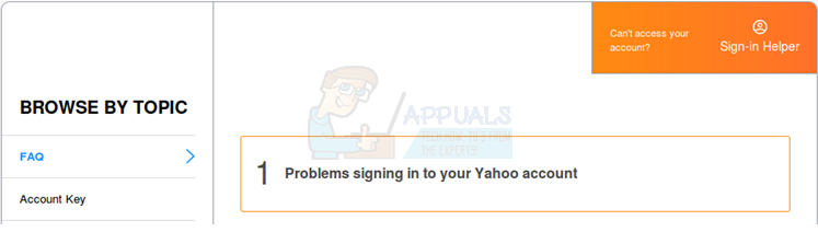 forgot yahoo password and mobile number changed