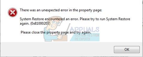Fix: System Restore Failure with Error 0x81000203 - Appuals com