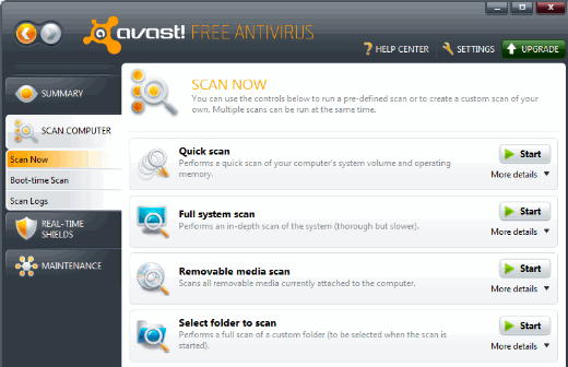 cannot delete avast files