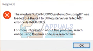 Fix: DllRegisterServer failed with error code 0x80070005 - Appuals com