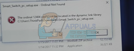 Fix: Ordinal Not Found Error on Windows 7, 8 and 10 - Appuals.com