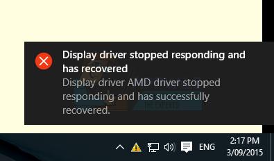 Fix: AMD Display Driver Crash Windows 10 - Appuals com