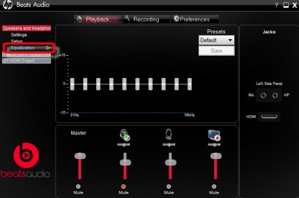 egaliseur beats audio