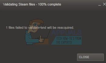 Fix: 1 file failed to validate and will be reacquired Steam