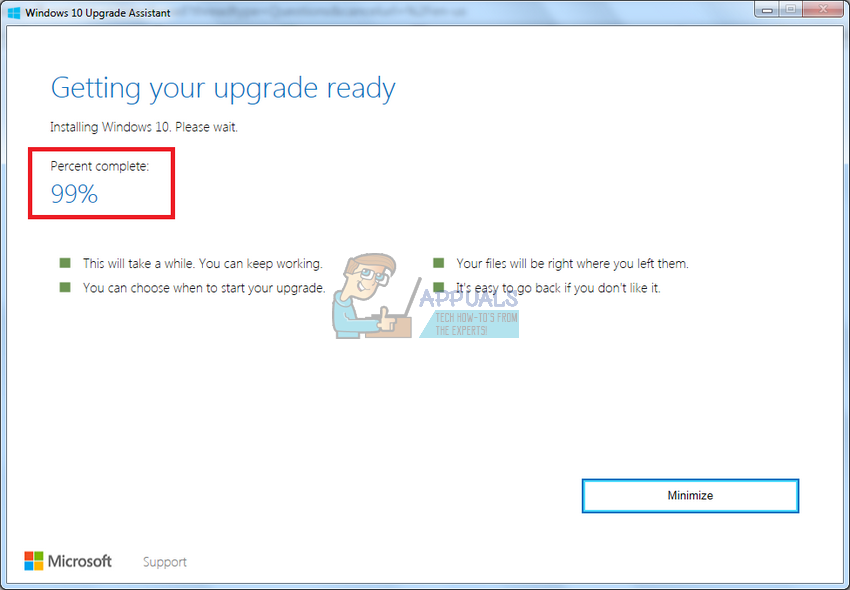 Fix: Windows 10 Upgrade Stuck at 99% - Appuals com