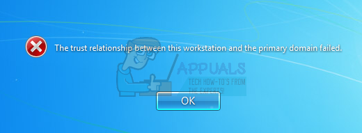 Fix: The trust relationship between this workstation and the