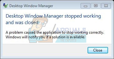 Fix Desktop Window Manager Stopped Working And Was Closed Appuals Com