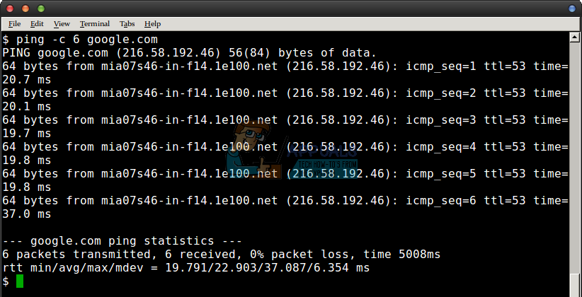 How to Ping Google in Linux - Appuals com