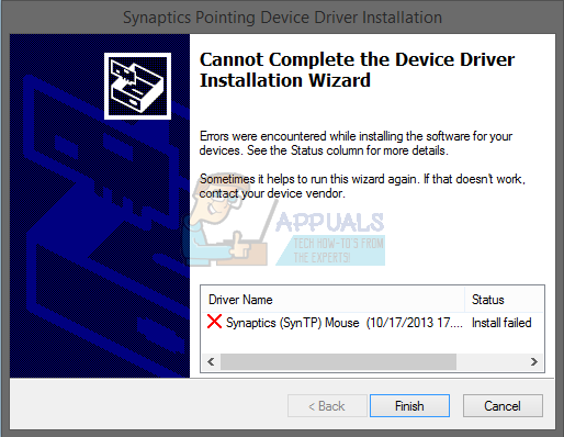 Fix: Cannot install Synaptics Touchpad Driver on Windows 10