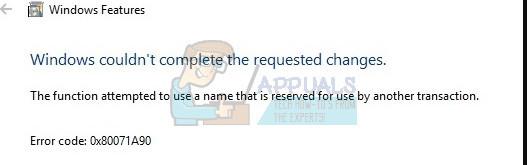 Fix: .NET Framework Error 0X80071A90 - Appuals.com