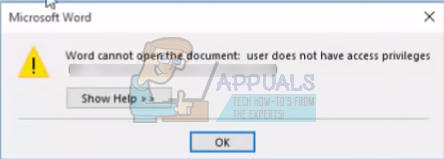 Fix: Word Cannot Open the Document: User Does Not Have Access