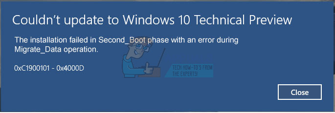 Fix: 0xc1900101 – 0x4000d Error During Windows 10