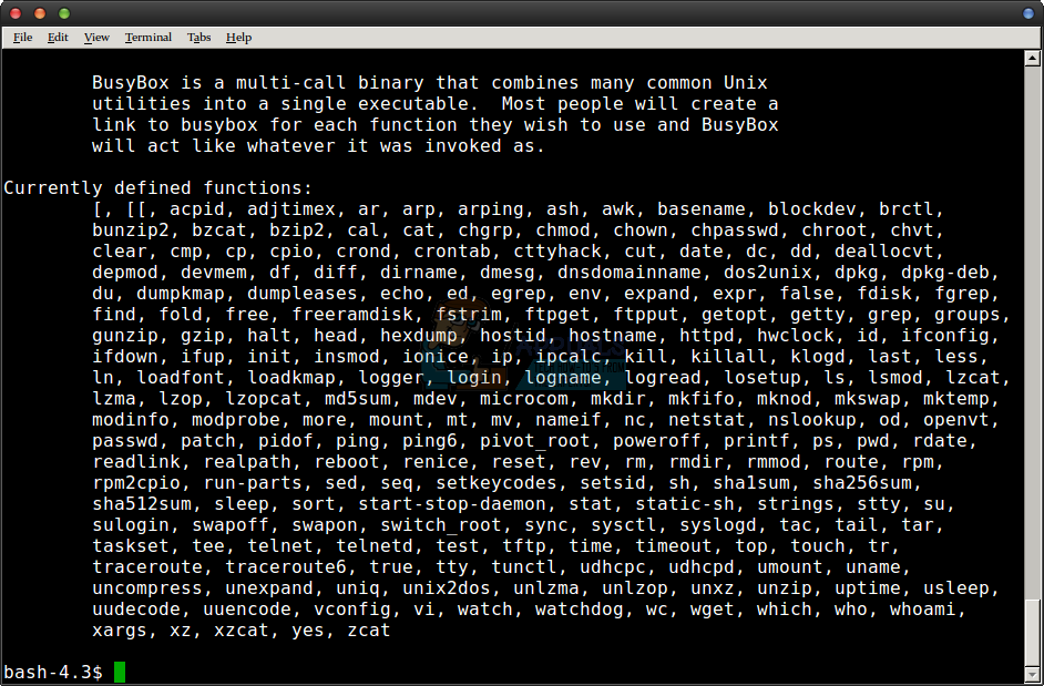 How to Check busybox Version & Installation Information - Appuals com