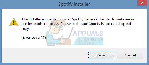 Fix: Error Code 18 on Spotify - Appuals com