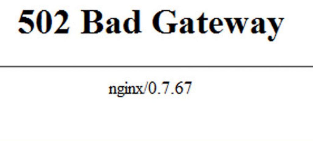 502 bad gateway nginx chrome