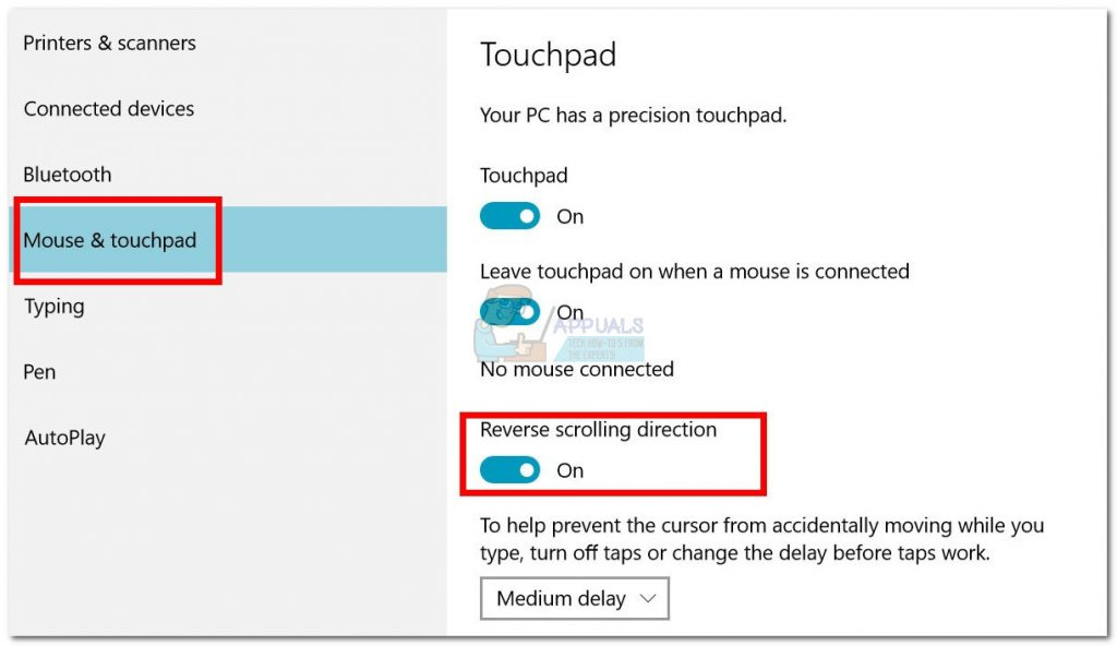 How to Reverse the Scrolling Direction in Windows 10 - Appuals com