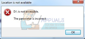 How to Fix The parameter is incorrect and is not accessible
