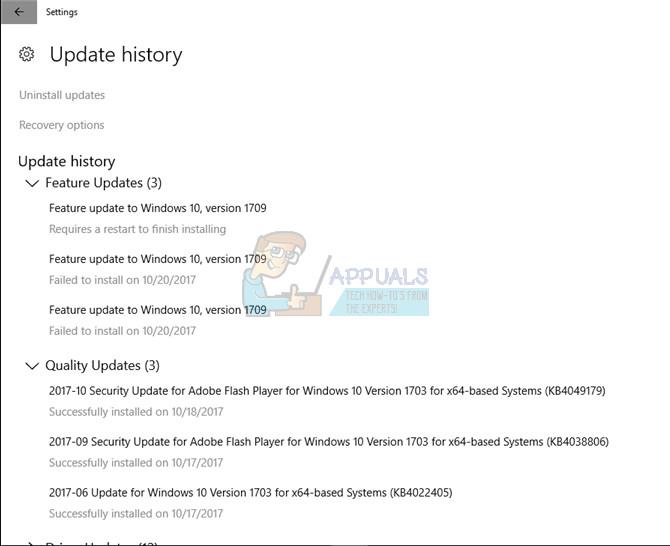 Fix: Windows 10 Update 1709 Fails to Install - Appuals com