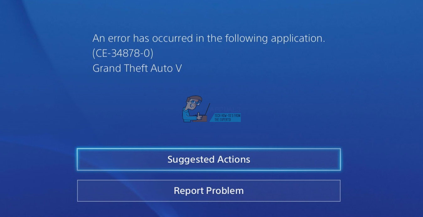 Fix: PlayStation 4 Error Code CE-34878-0 - Appuals com