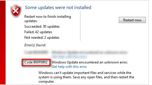 Fix: Windows Update Error 800f0902 - Appuals com
